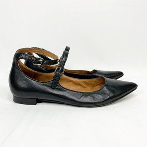 FRYE Classic Pointed Toe Leather Ballet Flats
